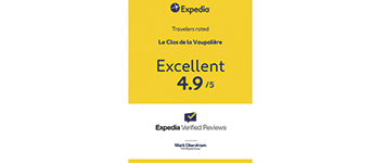 Expedia 2018 note excellent Clos de la Vaupaliere