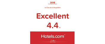 Hotels-2018 note excellent Clos de la Vaupaliere